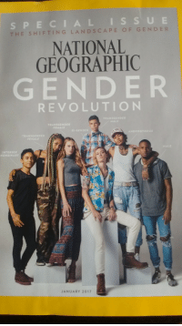 "<p>National geographic makes a whole magazine about confused teenagers via /r/dank_meme <a href=""http://ift.tt/2hOsTPU"">http://ift.tt/2hOsTPU</a></p>: S PECIALISSUE  THE SHIFTING LANDSCAPE OF GENDE R  NATIONAL  GEOGRAPHIC  GENDER  REVOLUTION  NDER  TRANSGENDER  FEMALE  BI-GENDER  INTERSEX  NONBINARY  JANUARY 2017 <p>National geographic makes a whole magazine about confused teenagers via /r/dank_meme <a href=""http://ift.tt/2hOsTPU"">http://ift.tt/2hOsTPU</a></p>"