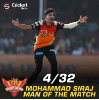 Memes, Match, and 🤖: S Shots  4/32  MOHAMMAD SIRAJ  MAN OF THE MATCH Mohammad Siraj bagged Man of the Match award.