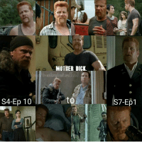 """Suck my nuts!"" What better way to go out, than with one final phrase from Sgt. Abraham Ford.  Clearly a beloved character, with some of the most memorable lines in Walking Dead history.  Personally, I couldn't have thought of a better actor to play this character. He really nocked it out the park. Terrific job Michael Cudlitz. 💔 ~Isis J.: S4-Ep 10  MOTHER DICK.  the walkingdead am/lssJ  S7-Ep1 ""Suck my nuts!"" What better way to go out, than with one final phrase from Sgt. Abraham Ford.  Clearly a beloved character, with some of the most memorable lines in Walking Dead history.  Personally, I couldn't have thought of a better actor to play this character. He really nocked it out the park. Terrific job Michael Cudlitz. 💔 ~Isis J."