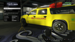 No customisation options are available for the Lifeguard Granger. Extremely disappointing: S4627662  $237022532  LSantos  CUSTOMS  CATEGORIES  Explosives  Loss/Theft Prevention  AT  Sell  Rig your vehicle with timed or ignition  explosives.  Top Speed  OLIFEGUARD  LOS SANIOS COUNTY  INIT STATES  Acceleration  Braking  Traction  ATOMIC  455  Select  Back  PlayStation®Store A  Move Camera R  First Person  Zoom L2 No customisation options are available for the Lifeguard Granger. Extremely disappointing