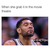 Disappointed, Funny, and Memes: When she grab it in the movie  theatre  2ND  STT  39 😂😂😂 Regram from my new account @hoodcomedy make sure to check it out. I don't disappoint-@hoodcomedy
