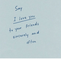 Friends, Love, and I Love You: Sa  I love you  to your friends  Sincerely an l  d s  often
