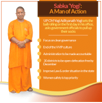"""Memes, 🤖, and Law: Sabka """"Yogi:  A Man of Action  Yogi Adityanath Yogi setsthe  ball rolling onthefirstdayinhis office,  asks government officials topull up  their socks  Focus on cleangovernance  End of theVVIP culture  Administration tobe made acoountable  30 districts tobeopen-defecation freeby  December  Improve Law&order situation inthestate  Women safetyistop priority Sabka YOGI - A Man Of Action !"""