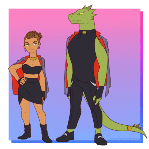 saccharinerose:  Princess Prom-esque outfits for Rogelio and Lonnie. Colors are based on the Horde Soldier armor (with some gold+silver accessories bc I want to).I image the jackets to have the Horde symbol on the back btw: saccharinerose:  Princess Prom-esque outfits for Rogelio and Lonnie. Colors are based on the Horde Soldier armor (with some gold+silver accessories bc I want to).I image the jackets to have the Horde symbol on the back btw