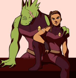 Tumblr, Blog, and Com: sacchavinevose saccharinerose:  Older Lonnie and Rogelio as Force Captains.I headcanon that Rogelio just… keeps growing until they're like 10 ft