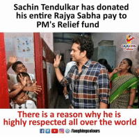 #SachinTendulkar #kindhearted <3: Sachin Tendulkar has donated  his entire Rajya Sabha pay to  PM's Relief fund  LAUGHING  There is a reason why he is  highly respected all over the world  R ○回參/laughingcolours #SachinTendulkar #kindhearted <3