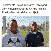 Hoop Maps😭💯 Doubletap if you want this rn🙌: Sacramento State Graduates Donte and  Dominic Morris Created An App To Find  Pick-Up Basketball Games! B  APP: HOOP  MAPS Hoop Maps😭💯 Doubletap if you want this rn🙌