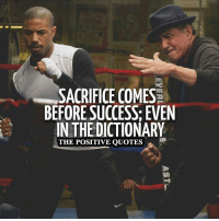 I'm Positive!: SACRIFICE COMES  BEFORE SUCCESS: EVEN  IN THEDICTIONARY  THE POSITIVE QUOTES I'm Positive!