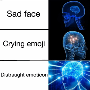 Emoticon: Sad face  Crying emoji  Distraught emoticon Emoticon