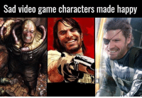 Gives things a whole new perspective 😂: Sad video game characters made happy Gives things a whole new perspective 😂