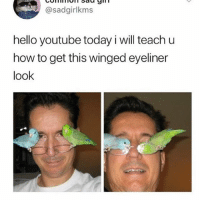 😍😍😍: @sadgirlkms  hello youtube today i will teach u  how to get this winged eyeliner  look 😍😍😍