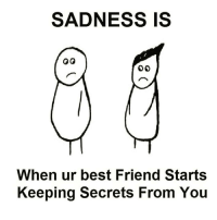 Memes, Friendship, and 🤖: SADNESS IS  When ur best Friend Starts  Keeping Secrets From You Tag someone Check out all of my prior posts⤵🔝 Positiveresult positive positivequotes positivity life motivation motivational love lovequotes relationship lover hug heart quotes positivequote positivevibes kiss king soulmate girl boy friendship
