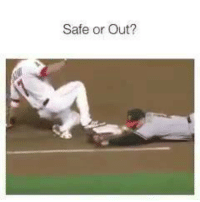 Mlb, Ask, and Friend: Safe or Out? LIKE for SAFE COMMENT for OUT SHARE to Ask a Friend.