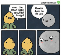 source: Safely Endangered: SAFELY ENDANGERED  WEB  TOON  wow, the  moon looks  beautiful  thanks  dude, so  do you  toni9  3) source: Safely Endangered