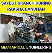 Memes, Engineering, and 🤖: SAFEST BRANCH DURING  RAKSHA BANDHAN  DR  NG1NEERING  NDA  MECHANICAL ENGINEERING 😂😂
