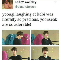 Bts, Rae, and Absolutely: safi rae day  @absolut ejeon  yoongi laughing at hobi was  literally so precious, yoonseok  are so adorable! SOFTT
