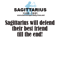 Best Friend, Best, and Free: SAGITTARIUS  11/22-12/21  www.horoscope-daily-free.net  Sagittarius will deiend  their best friend  till the end Oct 17, 2015. You will be bothered with trifles because of your tenseness, so try not to react in  …....FOR FULL HOROSCOPE VISIT: http://horoscope-daily-free.net/sagittarius