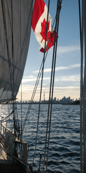 Sailing away from Toronto on Canada day aboard the tall ship St. Lawrence II for the great lakes challenge 2019!!: Sailing away from Toronto on Canada day aboard the tall ship St. Lawrence II for the great lakes challenge 2019!!