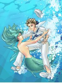sailorfailures:   Not all mermaids bewitch, son. Sometimes the sailors just jump in of their own accord.  (This has been sitting around as a WIP for a while so I finally finished it! I want to draw lots of blue-toned pictures of these two. Eventually.): sailorfailures:   Not all mermaids bewitch, son. Sometimes the sailors just jump in of their own accord.  (This has been sitting around as a WIP for a while so I finally finished it! I want to draw lots of blue-toned pictures of these two. Eventually.)