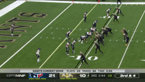 The Human Swiss Army Knife, Taysom Hill!  @Saints @T_Hill4   #HOUvsNO 📺: ESPN 📱: NFL app // Yahoo Sports app  Watch on mobile: https://t.co/61B66fsGkc https://t.co/6aLLIDKwKy: SAINTS CURRENT DRIVE PLAYS: 10 YARDS: 66 TIME: 5:36  21  10  ESFRMNF  3RD 2:44 10  3rd & 4 The Human Swiss Army Knife, Taysom Hill!  @Saints @T_Hill4   #HOUvsNO 📺: ESPN 📱: NFL app // Yahoo Sports app  Watch on mobile: https://t.co/61B66fsGkc https://t.co/6aLLIDKwKy