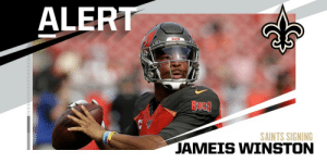 Saints expected to sign QB Jameis Winston to one-year deal. (via @RapSheet) https://t.co/4nNKaMWqY3: Saints expected to sign QB Jameis Winston to one-year deal. (via @RapSheet) https://t.co/4nNKaMWqY3