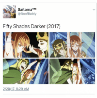 Shade, Onepiece, and Fandom: Saitama  TM  Fifty Shades Darker (2017)  2120/17, 8:29 AM sorry if my previous video wasnt anime .. - onepiece anime animememes animeedit animelover fairytail blackbutler blueexorcist tokyoghoul attackontitan deathnote hunterxhunter narutoshippuden naruto noragami onepunchman haikyuu kurokonobasket thesevendeadlysins owarinoseraph animefacts yurionice swordartonline mysticmessenger 👀 assassinationclassroom iloveanime animeworld weeb