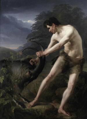 sakrogoat:Friedrich Rehberg -  A Young Man Fighting A Goat: sakrogoat:Friedrich Rehberg -  A Young Man Fighting A Goat