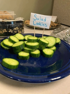 The flavor of disappointment….: Salad  Cookies The flavor of disappointment….