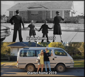 Home, How, and Times: SALE  Starter home 1955  Starter home 2019 How times have changed