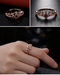 Beautiful, Family, and Friends: saltycaffeine: Beautiful and Unique Rose Gold Crown Rhinestone Ring. The perfect Gift for your Friends, Family or Special Someone! USE CODE: CROWN FOR A DISCOUNT = GET YOURS HERE =