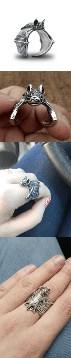 Cute, Family, and Friends: saltycaffeine:  Cute and adjustable Bat Ring! A truly unique and adorable gift for your friends and family!= GET YOURS HERE =