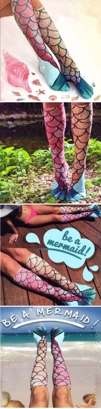 Beautiful, Family, and Friends: saltycaffeine:  Now you can be a mermaid with these Unique and Beautiful Mermaid Socks! Perfect gift for your Friends and Family! USE CODE: MERMAID = GET YOURS HERE =