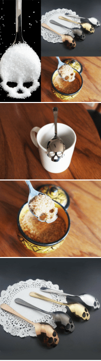 Tumblr, Blog, and Http: saltycaffeine: Unique Skull TeaSpoon USE CODE: TEA FOR A DISCOUNT = GET YOURS HERE =