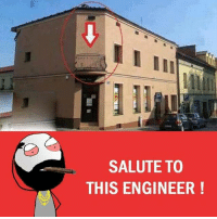 Be Like, Memes, and Sarcasm: SALUTE TO  THIS ENGINEER Twitter: BLB247 Snapchat : BELIKEBRO.COM belikebro sarcasm meme Follow @be.like.bro