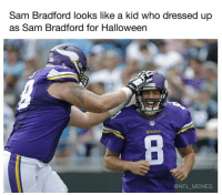 sam bradford: Sam Bradford looks like a kid who dressed up  as Sam Bradford for Halloween  KInGS  @NFL MEMES