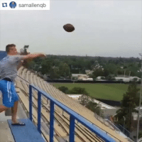 Sports, Time, and Only One: samallenqb There's only one thing to do in the offseason...trick shot time 🏈🎯⏱ (via @kpot5 and @samallenqb)