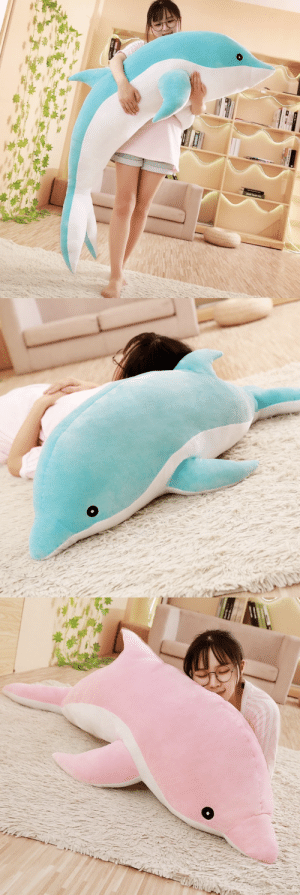 samanthasmiless:  Adorable and Super Soft Large Dolphin Plush made perfect for snuggling or relaxing! This will make a lovely and meaningful gift for your Friends and Family!=> AVAILABLE HERE <=: samanthasmiless:  Adorable and Super Soft Large Dolphin Plush made perfect for snuggling or relaxing! This will make a lovely and meaningful gift for your Friends and Family!=> AVAILABLE HERE <=