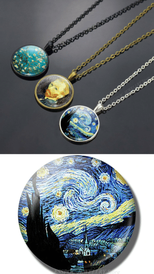 samanthasmiless:  Beautiful Design Van Gogh Art Oil Paintings Glass Necklace! Perfect gift for art lovers! => AVAILABLE HERE <=: samanthasmiless:  Beautiful Design Van Gogh Art Oil Paintings Glass Necklace! Perfect gift for art lovers! => AVAILABLE HERE <=