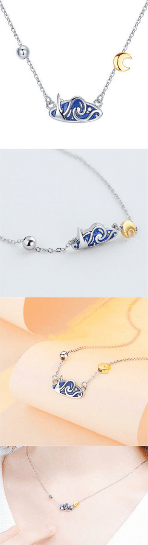 samanthasmiless:  This necklace is inspired by Starry Night, an oil on canvas by the Dutch post-impressionist painter Vincent Van Gogh. Painted in June 1889, it describes the view from the east facing window of his asylum room at Saint-Remy-de-Provence, just before sunrise, with the addition of an Ideal Village.This piece of work reminds us to trust our dreams and not believe the critics of the world. Whenever you're struggling to keep running after that dream in your heart, don't compromise or give up. Just look down at this beautiful necklace and remember that the journey to fulfilling marvellous dreams have ups and downs, so keep on running.=> AVAILABLE HERE <=: samanthasmiless:  This necklace is inspired by Starry Night, an oil on canvas by the Dutch post-impressionist painter Vincent Van Gogh. Painted in June 1889, it describes the view from the east facing window of his asylum room at Saint-Remy-de-Provence, just before sunrise, with the addition of an Ideal Village.This piece of work reminds us to trust our dreams and not believe the critics of the world. Whenever you're struggling to keep running after that dream in your heart, don't compromise or give up. Just look down at this beautiful necklace and remember that the journey to fulfilling marvellous dreams have ups and downs, so keep on running.=> AVAILABLE HERE <=