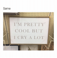 relatable??: Same  I'M PRETTY  COOL BUT  I CRY A LOT relatable??