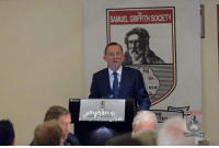 Good to talk about the importance of free speech and cultural self-confidence at the Samuel Griffith Society's annual conference. See the full speech here: http://tonyabbott.com.au/2016/08/transcript-of-the-hon-tony-abbott-mp-address-to-the-samuel-griffith-society-stamford-plaza-hotel-adelaide/: SAMUEL GRIFFITHSOCIETY  NSW.  E  HE  ITUT Good to talk about the importance of free speech and cultural self-confidence at the Samuel Griffith Society's annual conference. See the full speech here: http://tonyabbott.com.au/2016/08/transcript-of-the-hon-tony-abbott-mp-address-to-the-samuel-griffith-society-stamford-plaza-hotel-adelaide/