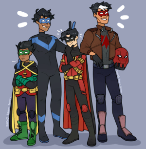 samysamsamarts:  Redraw from the very first time i drew bat-fam related: samysamsamarts:  Redraw from the very first time i drew bat-fam related