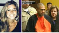 SAN FRANCISCO  SEPTEMBER 4 On July 1, 2015, a man fired a stolen  gun on Pier 14 in the Embarcadero district in San Francisco, California. The bullet ricocheted off the pavement, then struck 32-year-old Kathryn Steinle in the back, causing her to die two hours later at a hospital. Juan Francisco Lopez-Sanchez, an illegal immigrant from Mexico who had previously been deported five times, was arrested and charged with her murder.     The shooting sparked controversy and political debate over San Francisco's status as a sanctuary city. President Donald Trump cited Lopez-Sanchez in support of his proposal to deport foreign nationals living illegally in the United States.