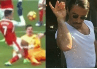 Sanchez paying tribute to Salt bae with his first goal 😂: Sanchez paying tribute to Salt bae with his first goal 😂