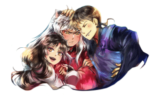 Family, Hello, and Period: sankontesu: Art by the amazing @regoli (Commission info!) During the 3 years that Kagome was gone, I think Inuyasha went through an adjustment period, and if you know me, you know that I headcanon him also going through a deep depression. But I also think that Miroku and Sango were huge pillars of support for him. I think their relationship onlystrengthenedand grew duringthose three years, and I think that sense of family they all lost, they all found within each other tenfold.