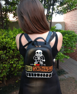 Sans (from Undertale) backpack I painted: Sans (from Undertale) backpack I painted