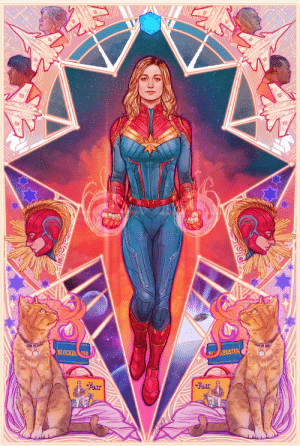 sanshodelaine: after hours of work I finally finished my captain marvel fanart. went nuts with the colors, because galaxy colors y'know… put a lot of symbolica/movie references in there too ;) since I can't visit any conventions atm art prints are available on INPRNT: https://www.inprnt.com/gallery/sansho/captain-marvel/ : sanshodelaine: after hours of work I finally finished my captain marvel fanart. went nuts with the colors, because galaxy colors y'know… put a lot of symbolica/movie references in there too ;) since I can't visit any conventions atm art prints are available on INPRNT: https://www.inprnt.com/gallery/sansho/captain-marvel/