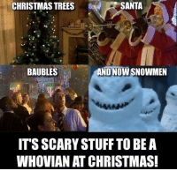 Funny Stuff: SANTA  CHRISTMAS TREES  AND NOWSNOWMEN  BAUBLES  ITS SCARY STUFF TO BE A  WHOVIAN AT CHRISTMAS!