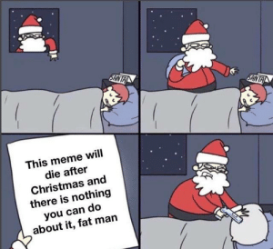 There Is Nothing: SANTA  SANTA  This meme will  die after  Christmas and  there is nothing  you can do  about it, fat man