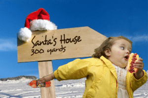 Meme, Girl, and House: Santa's House  300 yards Image - 28871] | Chubby Bubbles Girl | Know Your Meme